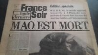 JOURNAL FRANCE SOIR EDITION SPECIALE 10 SEPTEMBRE 1976 ABE