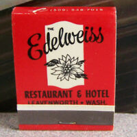 Vintage Matchbook S5 Washington Leavenworth Bavarian Edelweiss Flower Hotel Nice
