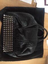Alexander Wang Rocco Bag Black Silver Hardware Large 100% Genuine