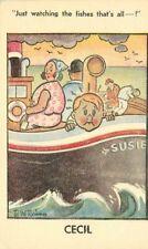 Artist impression Comic Humor Cecil Seasick Boy Postcard 20-5635