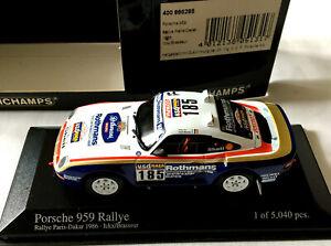 PORSCHE 959 RALLYE PARIS-DAKAR 1986 ICKX/BRASSEUR MINICHAMPS 400866285 1/43