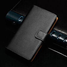 Luxury Genuine Real Leather Flip Wallet Plain Case Cover For OnePlus One A0001