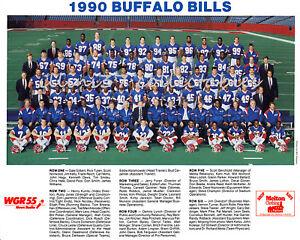 1990 BUFFALO BILLS NFL AFC CHAMPIONS SUPER BOWL 25 XXV 8X10 TEAM PHOTO