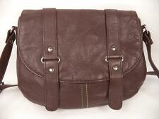 BROWN LEATHER SATCHEL SHOULDER BAG HANDBAG