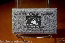 "Custom Pet Memorial Grave Marker 5""x3"" Headstone Stone Plaque Dog Cat Bunny Bird"