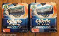 12 Gillette Fusion REGULAR ProGlide Shaver Razor Blade Refill Cartridges Pack