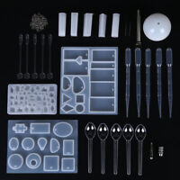 Silicone Mould Jewelry Pendant Resin Casting Craft Making Molds Kit Set UYJUS