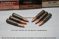 7.62 x 39 AK47 / SKS Steel FMJ – CBW Safe Snap ™  Snap Caps –Non Filled Lot of 5