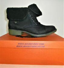 Rocket Dog Women's Tiffany Burnie Black Ankle Boots Size UK 7 EURO 40