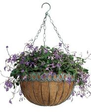 Gorgeous Austram 16-Inch Antique Green Round Queen Anne Hanging Basket Planter