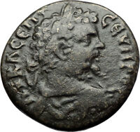 SEPTIMIUS SEVERUS Authentic Ancient Anchialus Thrace Roman Coin HOMONOIA i71102