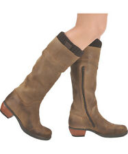 FLY LONDON MYLA MONA DISTRESSED LEATHER KNEE HIGH BOOTS UK 7 EUR 40 RRP £145