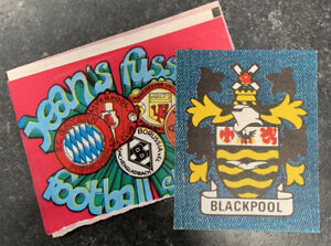 *rare* Fussball Football Jeans Stickers - 1975. Blackpool & Empty Packet