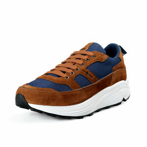 Car Shoe By Prada Men's Suede Leather Fashion Sneakers Shoes 9 10