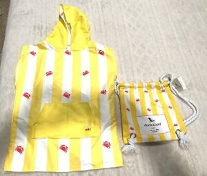 Dock & Bay Mini Ages 3-7 Small Poncho W/ Hood Towel Beach Pool Boat Shower Crabs