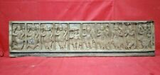 Antique Vishnu Dashavatar Wall Panel Hindu God Vintage Wood Statue Sculpture US