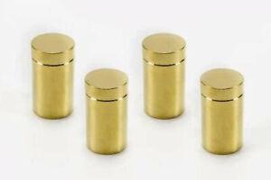 Messing  Abstandhalter 13 x 19 mm, edle Gold-Optik, Schilderhalter 10 x 4er Set