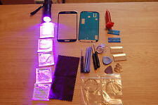Samsung Galaxy S4 i9500, i9505 Front Glass Repair Kit Black, Loca Glue, Uv Torch