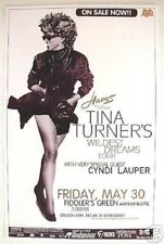 "TINA TURNER & CYNDI LAUPER ""WILDEST DREAMS TOUR""  2000 DENVER CONCERT POSTER"
