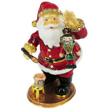 RUCINNI Santa/Nutcracker Jeweled Trinket Box with SWAROVSKI Crystals