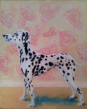 """PAINTING Acrylic on canvas """"Good Dog"""" 20 x 25cm (unframed)"""