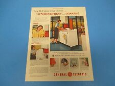 1954 Print Ad, General Electric GE, Automatic Dryer, So safe so dependable PA017