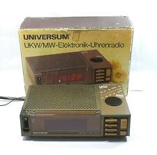 Electronic Uhr radio alarm vintage retro UniversumUR 1435 electronic clock radio