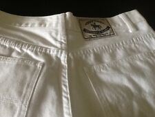 White  100% Cotton Paul Costelloe Dressage Jeans Size UK 12 U.S. 8 Immaculate