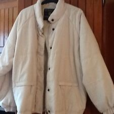 Ladies River Island Cream Quilted Winter Coat.size large 12-14