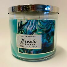1 Bath & Body Works Beach Sage & Mint 3 Wick Large Scented Candle 14.5 oz