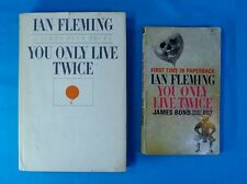 "PAIR (2) of ""YOU ONLY LIVE TWICE"" by Ian Fleming; James Bond 007; Free Shipping!"