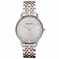 New Emporio Armani AR1603 Stainless Steel Luxury Watch Designer - UK Seller