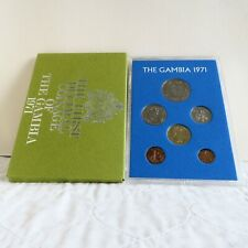 THE GAMBIA 1971 6 COIN PROOF SET - sealed pack/cover