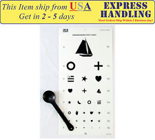 Kindergarten Vision Eye Testing Chart with Occluder (Set of 2)
