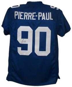 Jason Pierre-Paul Autographed/Signed New York Giants Blue XL Jersey JSA 12754