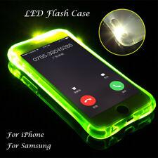 LED Lighting Flashing Case Shockproof TPU Case For iPhone 5,6,7 X/Samsung Galaxy