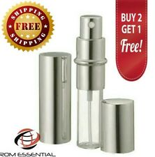 Silver 12ml Spray Atomizer Perfume/Cologne Travel Size Refillable Rom Essentials