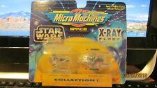 Micro Machines Star Wars Boba Fett's Slave I  Y-Wing Space X-RAY FLEET 1995