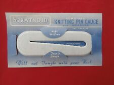 Vintage Stratnoid Knitting Needle / Pin Gauge. On original card.