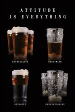 Attitude is Everything - Beer POSTER 60x90cm NEW * Optimist Perfectionist