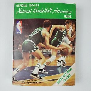 1974 75 NBA Guide Preview BOSTON Celtics JOHN HAVLICEK 440 Pages