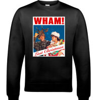 WHAM CHRISTMAS JUMPER, Mens LAST Xmas George Micheael Unisex CD Album Sweatshirt