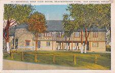 c.1920 Municipal Golf Club House Brackenridge Park San Antonio TX post card