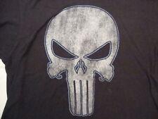 Marvel Comics The Punisher Insignia Black Soft Cotton T Shirt Size XL