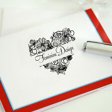 Personalized Custom Name Shop Name Gift Card Handle Mounted Rubber Stamp RE582
