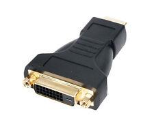 HDMI To DVI  Gold Adaptor Convertor HDMI plug - DVI Skt