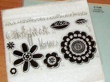 CTMH C1538 GIRLS ROCK ~ HEART BORDER, FLOWERS, LOVE