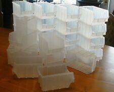 26 Stück Stapelboxen Gr.3  *  248x145x127mm  *  transparentes PP  *  NEUWARE