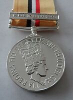 Iraq Op Telic Full Size Medal, Clasp, Military, Ribbon, Army, Replacement, New
