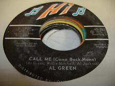 Soul 45 AL GREEN Call Me (Come Back Home) on Hi